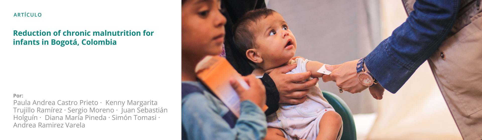 Reduction of chronic malnutrition for infants in Bogotá, Colombia