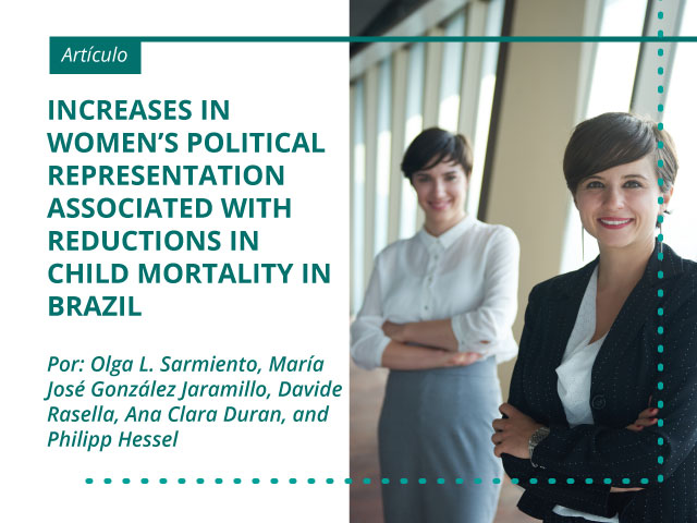 Increases in women's political representation associated with reductions in child mortality in Brazil