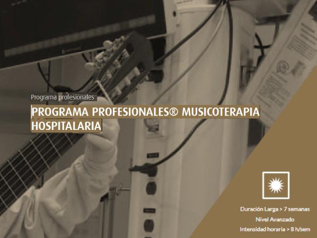 Programa profesionales musicoterapia hospitalaria
