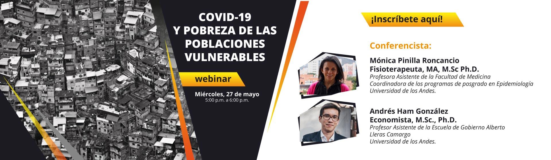 COVID-19 y pobreza de las poblaciones vulnerables