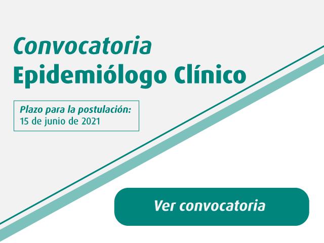 Convocatoria Epidemiólogo Clínico