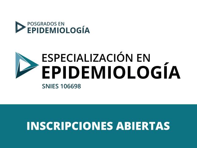 Especialización en Epidemiología - Inscripciones Abiertas