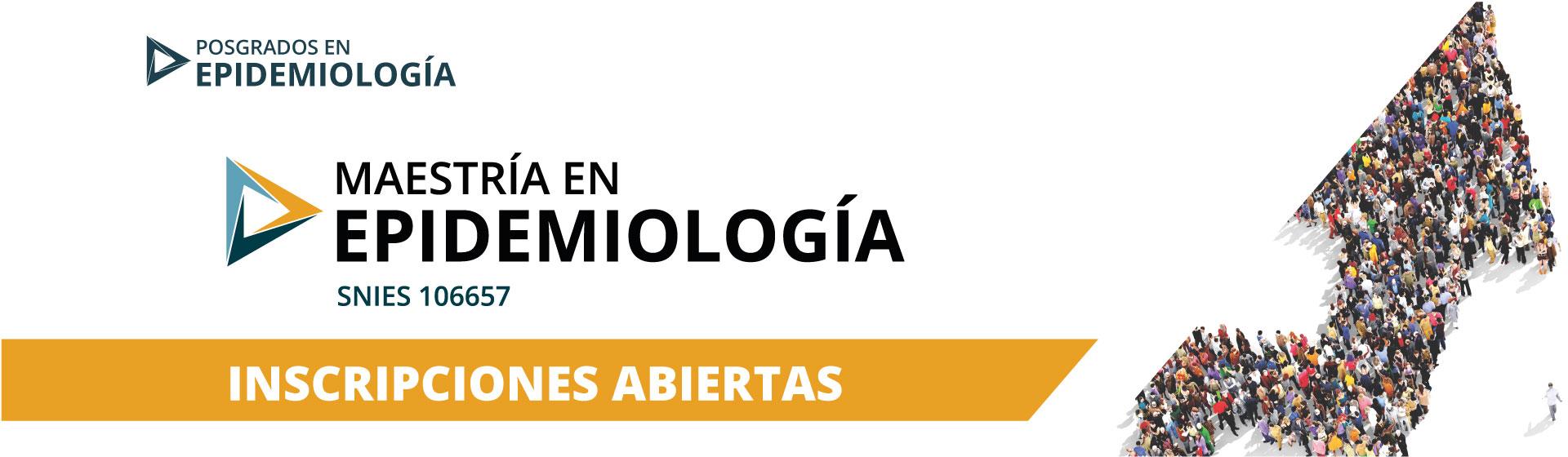 Maestría en Epidemiología - Inscripciones Abiertas