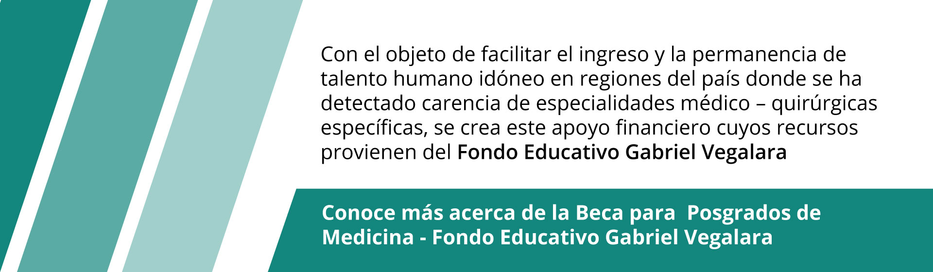 Beca posgrados en medicina - Fondo Gabriel Vegalara