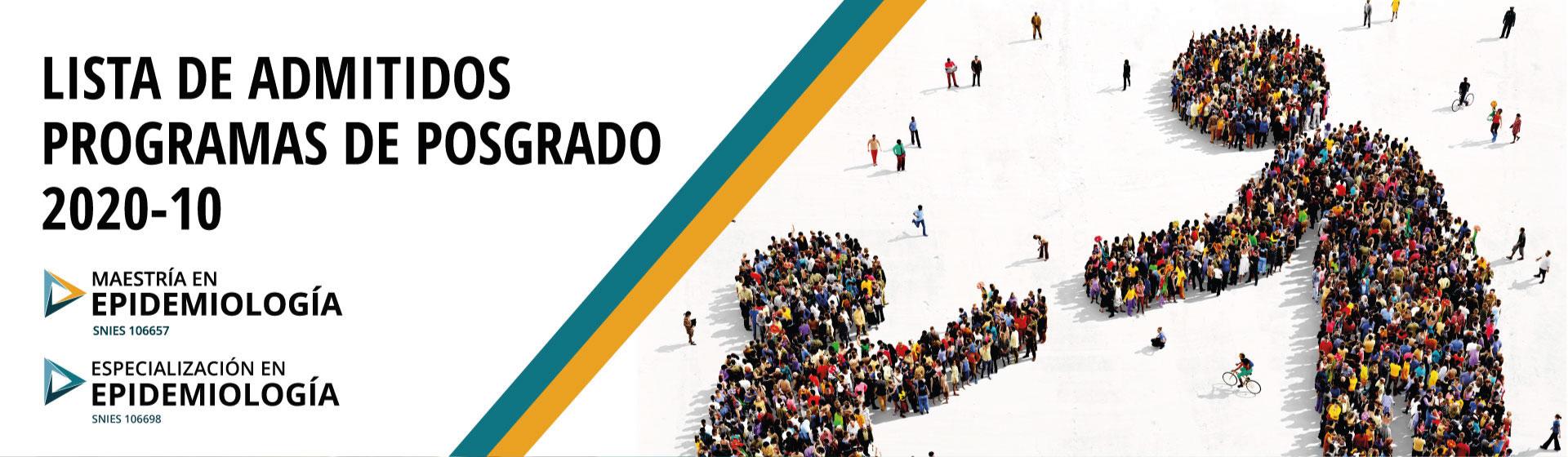 Admitidos programas de posgrado en epidemiología 202010