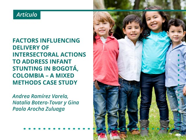 Factors influencing delivery of intersectoral actions to address infant stunting in Bogotá