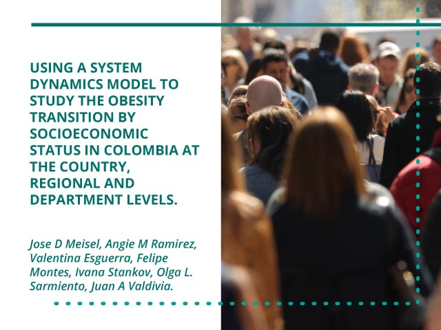 Using a system dynamics model to study the obesity transition by socioeconomic status in Colombia