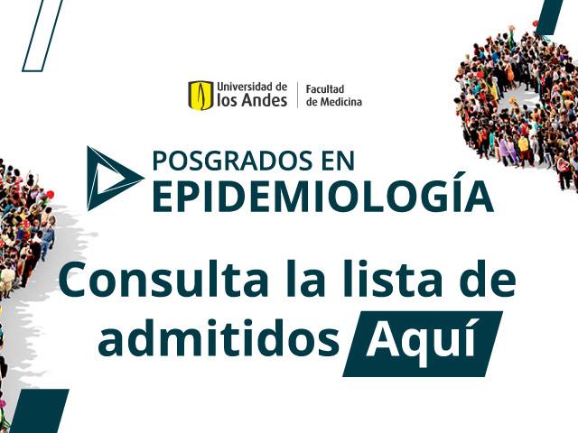 Lista de admitidos a Posgrados en Epidemiología