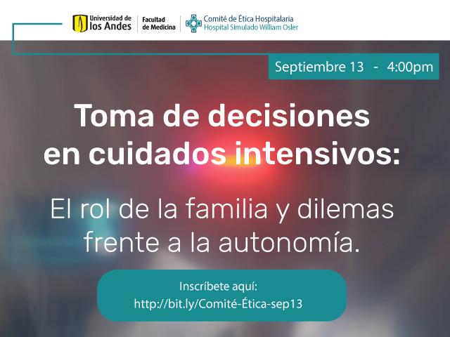 Toma de decisiones en cuidados intensivos: El rol de la familia y dilemas frente a la autonomía.